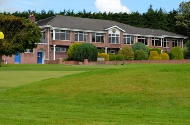 The clubhouse at Killymoon Golf Club