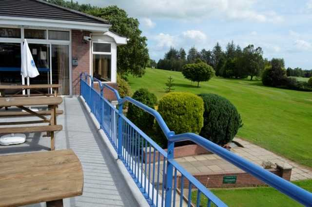 A nice view of the course from the terrace at Killymoon Golf Club