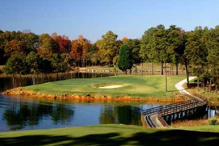 An autumn view from Lanier Islands Legacy Golf Course