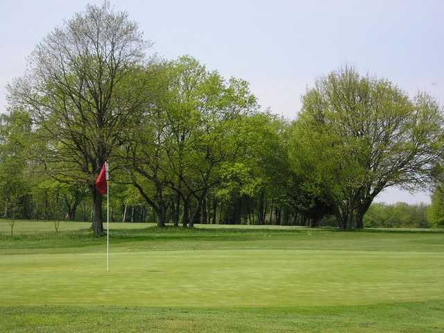 A view of a hole at Nancy Golf Club