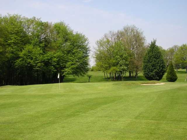 A view of a green at Nancy Golf Club
