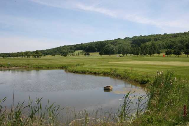 A view over the water from Nancy Pulnoy Golf Club