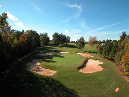 Aerial view from Oak Mountain Championship Golf Course
