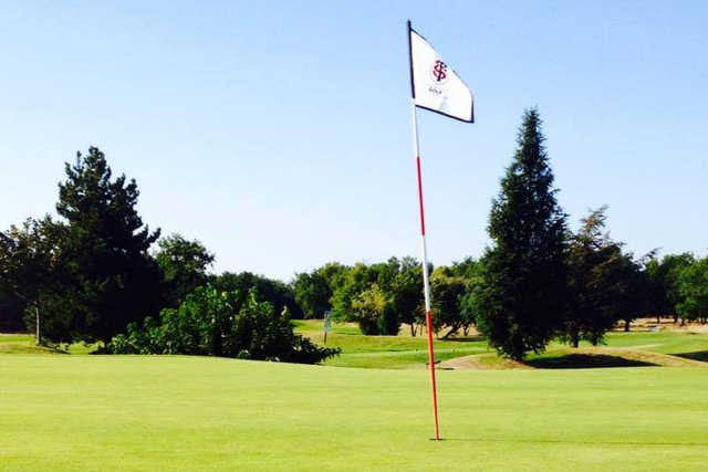 A view of a hole at Toulouse-Seilh Golf Club