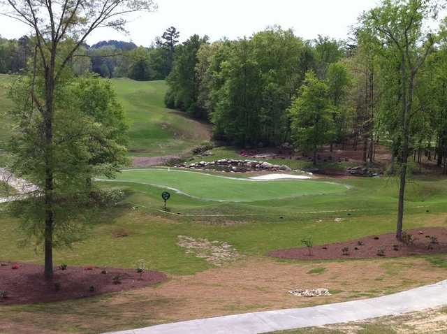 A view of hole #18 at Cherokee Run Golf Club