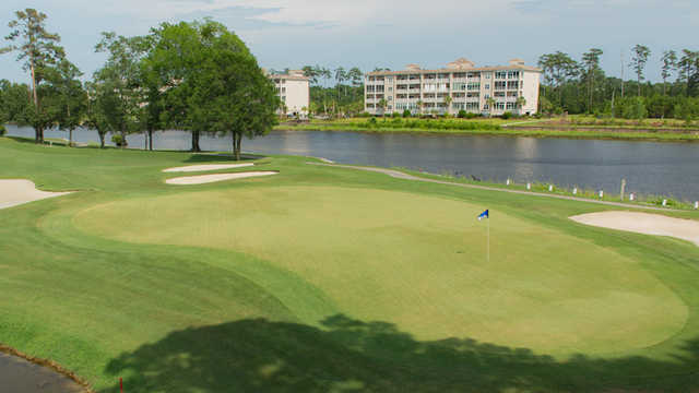 Aerial view of the 5th hole at Waterway Course from Arrowhead Country Club