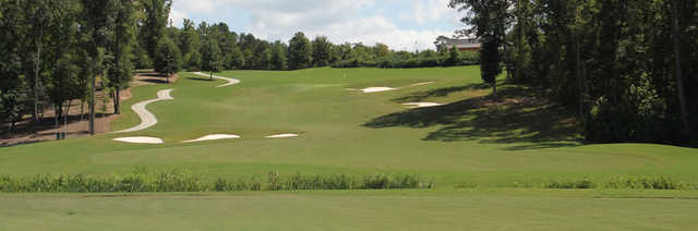 View of the par-5 9th hole from the Independent Course at Mount Vintage Plantation Golf Club