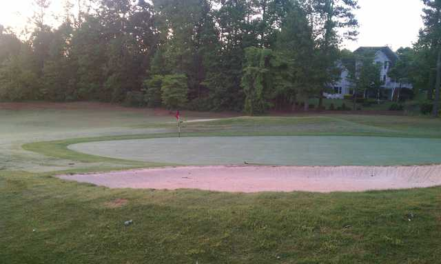 A view of a green from The Trophy Club of Apalachee.