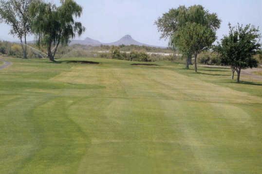 A view of a fairway at Apache Mesa Golf Course
