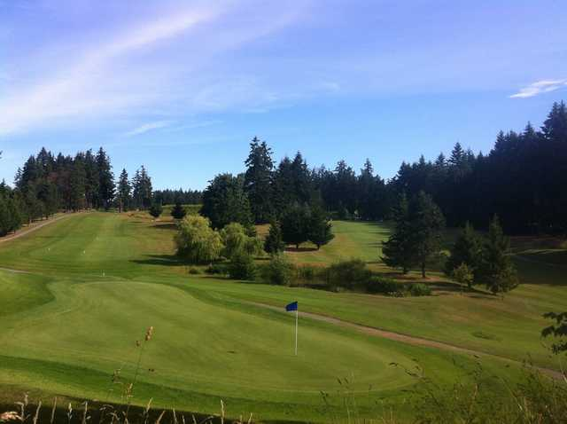 A view of a green at Salt Spring Island Golf and Country Club