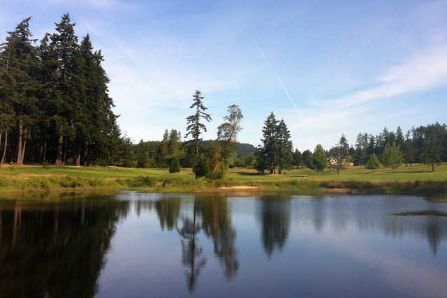 A view over the water from Salt Spring Island Golf and Country Club