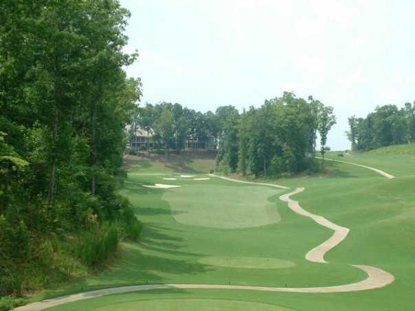 A view of the 14th hole at Chestatee Golf Club