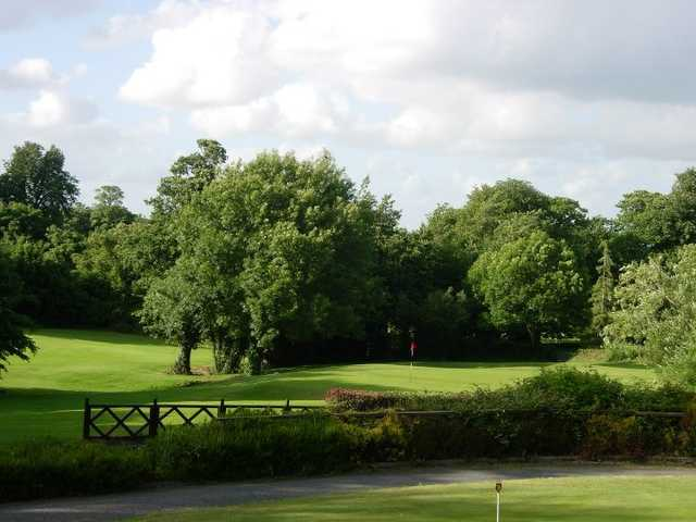 A view from the practice putting green at Stepaside Golf Course