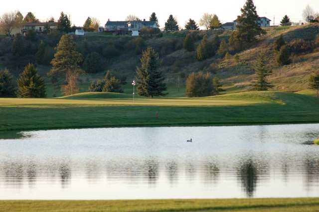 A view over the water from Village Greens Golf Course