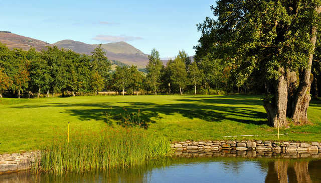 A view over the water from Blair Atholl Golf Club