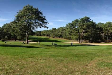 A view of a green at Lacanau International Golf Club