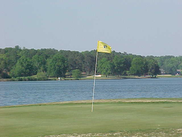 A view of the 13th hole at Lake from Carolina Trace Country Club