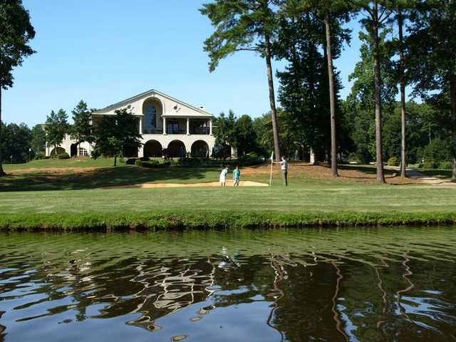 A view of the clubhouse at Club at Shoal Creek