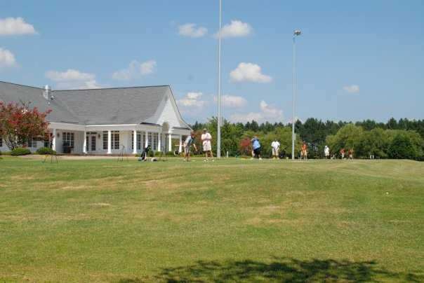 A view of the driving range tees at Bradford Creek Golf Club
