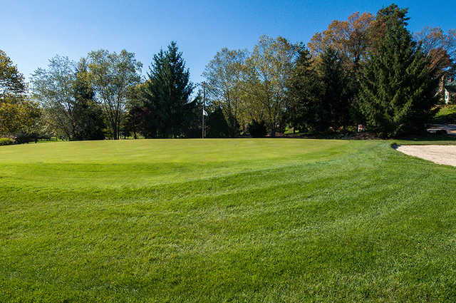A view of green #3 at Rustic Hills Country Club