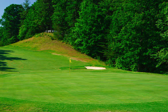 A view of hole #14 at Innsbruck Golf Club