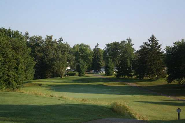 A view from a tee at Minerva Lake Golf Course