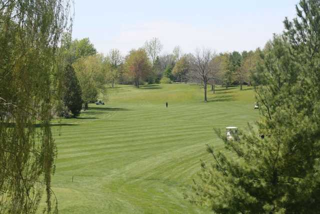 A view of the 9th fairway at Red from MontHill Golf and Country Club