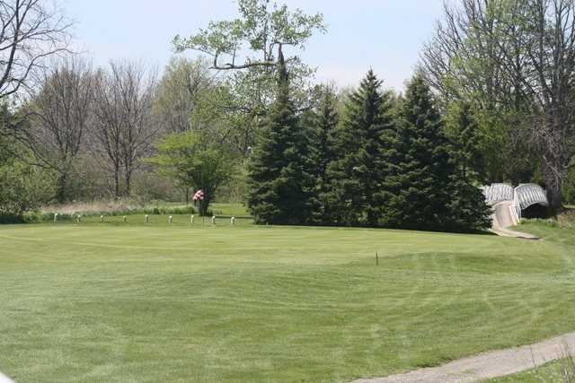 A view of hole #2 at Red from MontHill Golf and Country Club