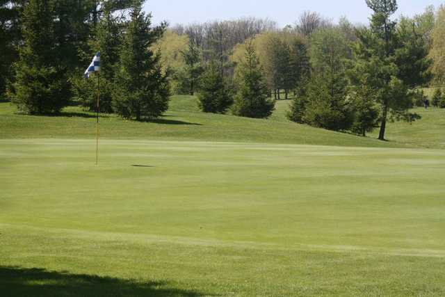A view of the 7th hole at Blue from MontHill Golf and Country Club