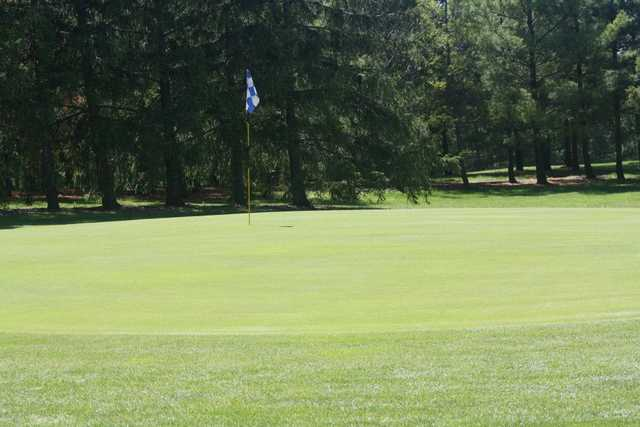 A view of a green from the Blue/Red Course at MontHill Golf and Country Club