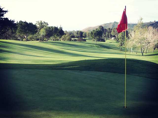 A view of a hole at Santa Barbara Golf Club