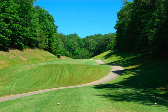 A view of the 8th hole at Innsbruck Golf Club