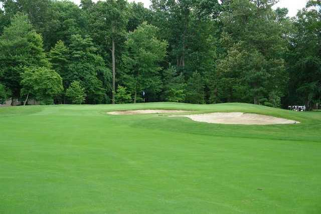 A view of the 2nd green at Maple Dale Country Club