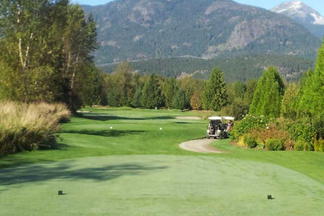 A view from a tee from Meadows at Pemberton