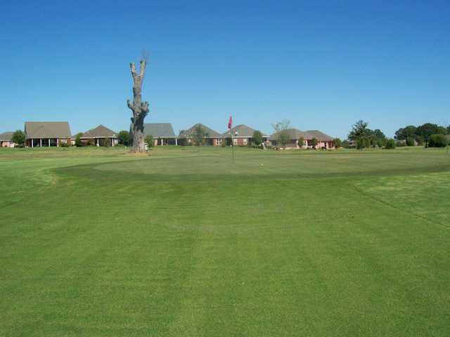 A view of a green at Elm Lake Golf Course