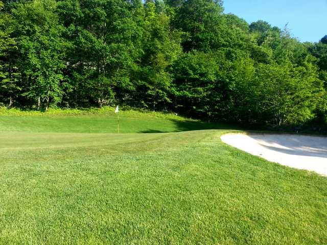 A view of a hole at Apple Greens Golf Course