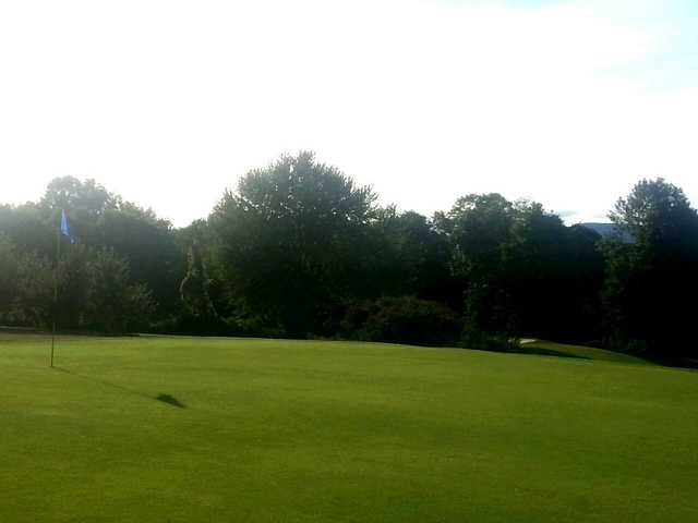 A view of a green at Apple Greens Golf Course