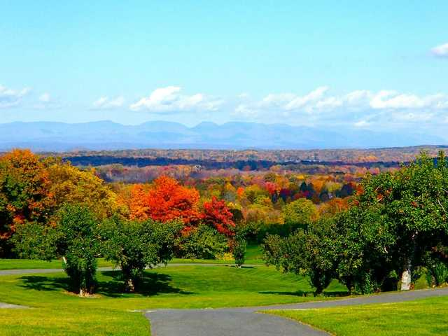 A fall view from Apple Greens Golf Course