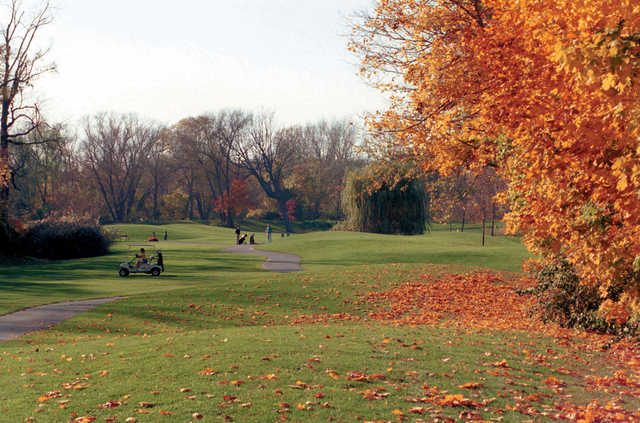 A fall view from Dearborn Hills Golf Course