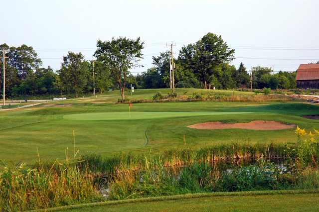A view of the 1st green at Whitetail Golf Club