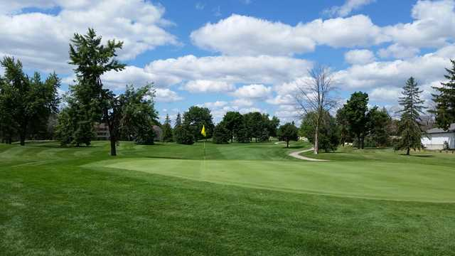 A view of the 12th hole at Canterbury Green Golf Course