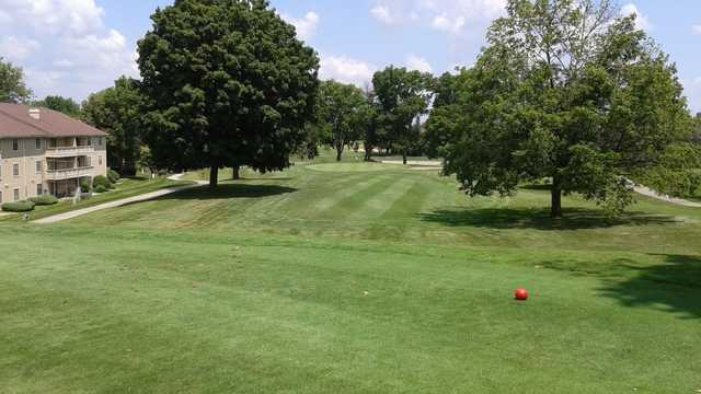 A view from a tee at Canterbury Green Golf Course