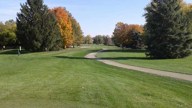 A view of a tee at Canterbury Green Golf Course