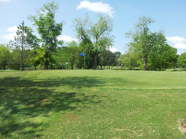 A view of a green at Jackson Country Club