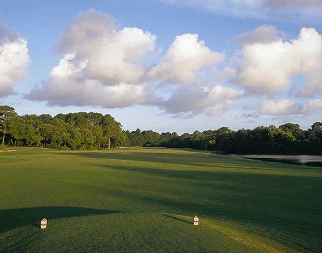 A view of green #7 at Jekyll Island Golf Course - Indian Mound Course