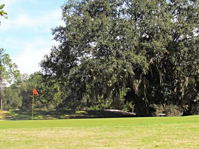 A view of a green at Refuge Golf Club from Gulf State Park