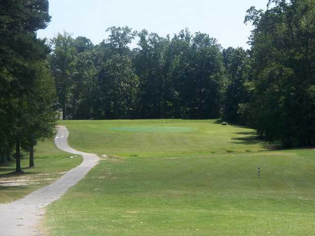 A view of green #14 at Collins Hill Golf Club