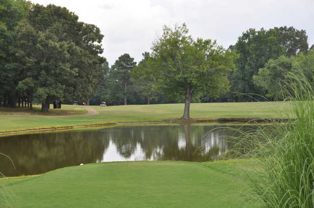 A view over the water from Booneville Country Club