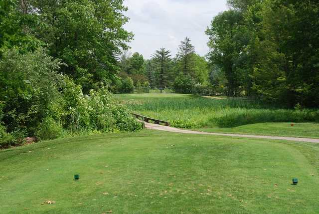 A view from a tee at Sugarbush Golf Club