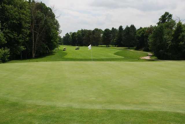 A view of a hole at Sugarbush Golf Club